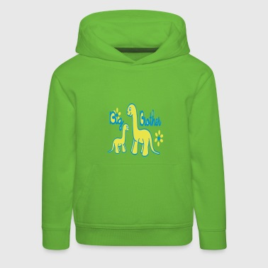 Dino_big brother - Kids' Premium Hoodie