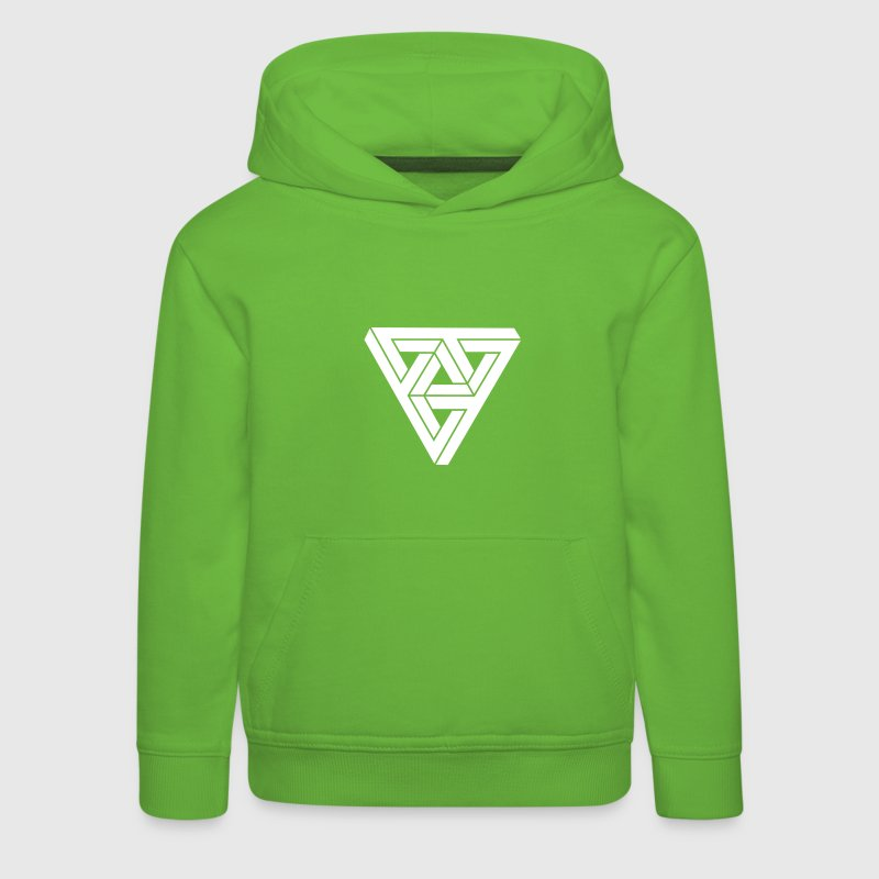 Optical illusion Triangle Minimal Shape - Kids' Premium Hoodie