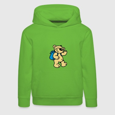 Little Bear goes to school - Pull à capuche Premium Enfant