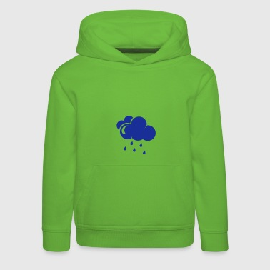Cloud with rain drops - Kids' Premium Hoodie