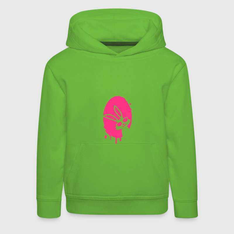 Graffiti Easter egg and Easter bunny - Kids' Premium Hoodie