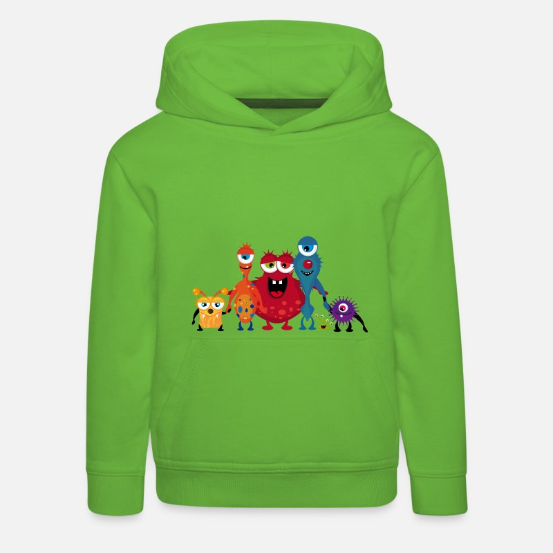 Bestsellers Q4 2018 Hoodies & Sweatshirts - A colorful monsters family  - Kids' Premium Hoodie light green