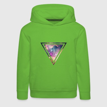 Galaxy - Space - Universe / Hipster Triangle - Kids' Premium Hoodie