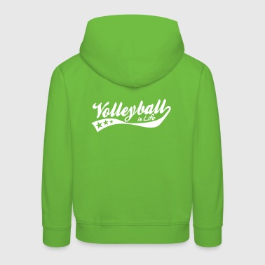 volleyball is life - retro - Pull à capuche Premium Enfant