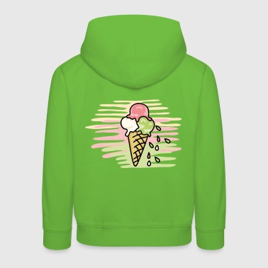 Waffel I love icecream - Kinder Premium Hoodie