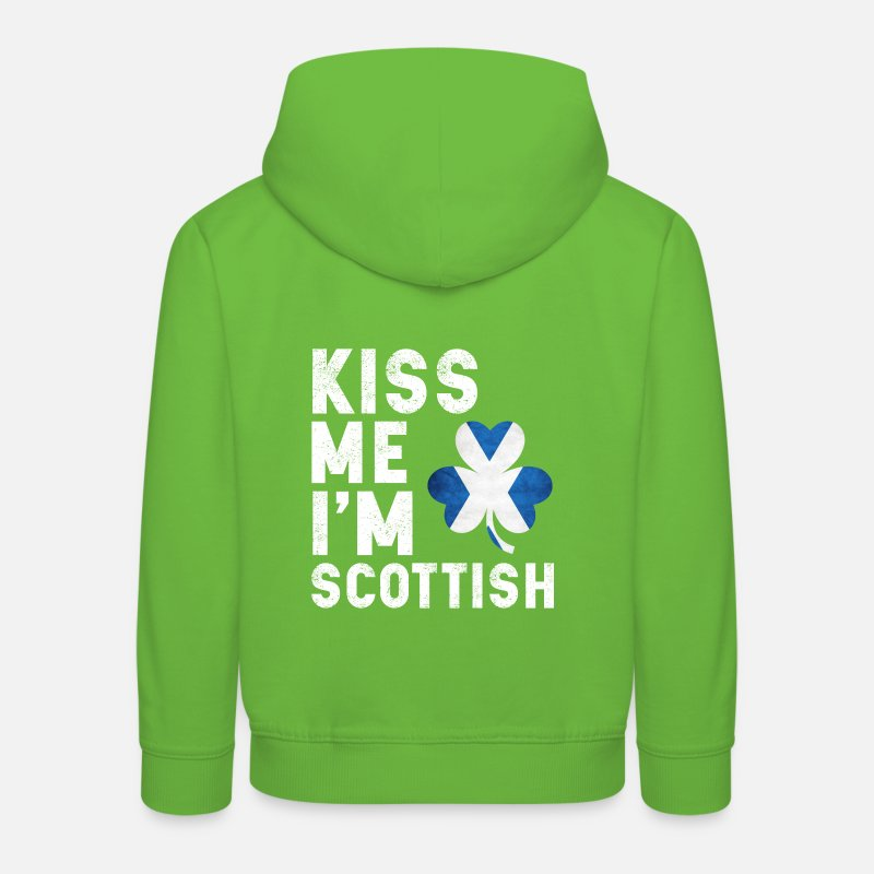 St Hoodies & Sweatshirts - kiss me i m scottish - Kids' Premium Hoodie light green