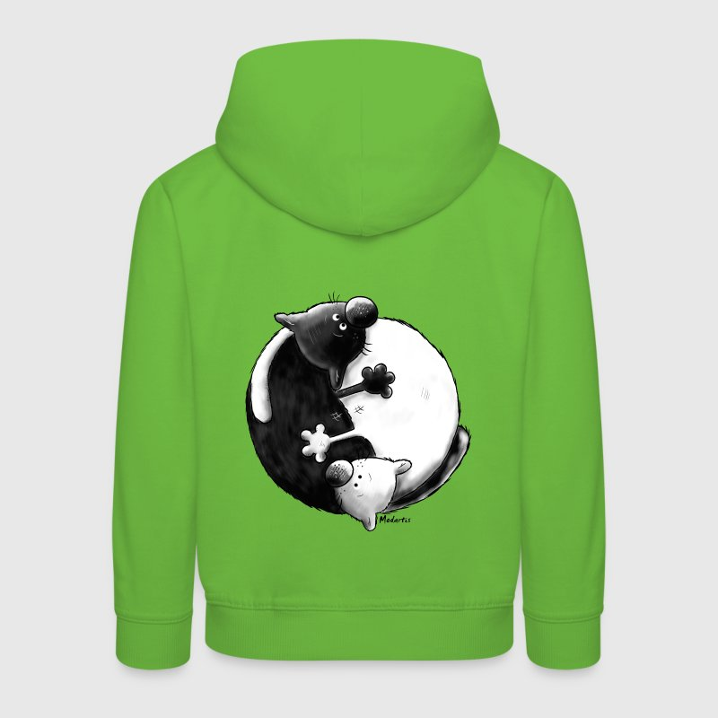 Black and White - Yin Yang - Katzen - Kinder Premium Hoodie