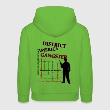 district america gangster - Kinderen trui Premium met capuchon