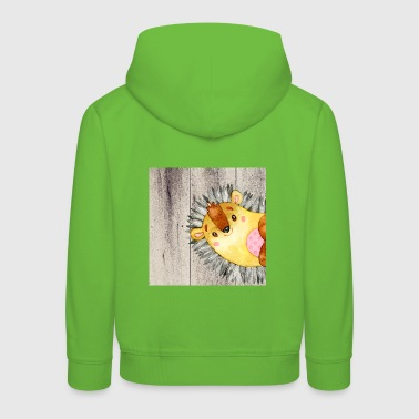 Animal friends in the forest - little hedgehog - Kids' Premium Hoodie