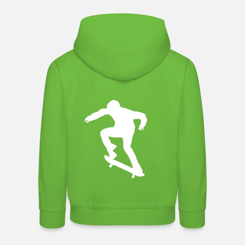 Skate Sweat-shirts - Skater - Skateboard - Skating - Sweat Premium Enfant vert clair