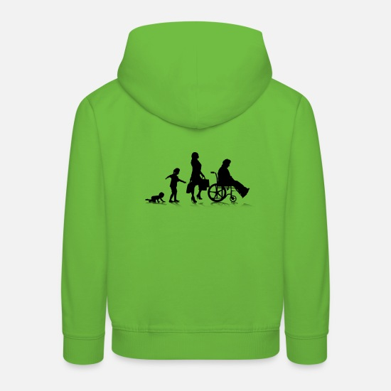 Age Hoodies & Sweatshirts - Human Aging 6 - Kids' Premium Hoodie light green