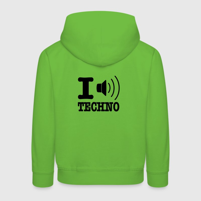 I love techno / I speaker techno - Pull à capuche Premium Enfant