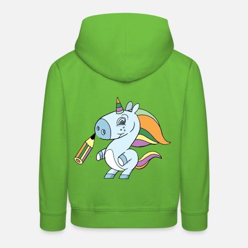 Einhorn Zeichnen Kinder Premium Hoodie Spreadshirt