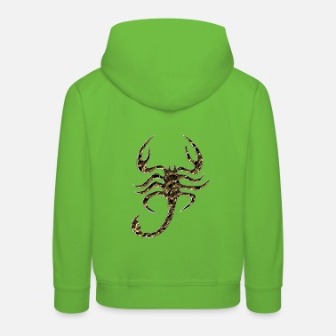 Scorpion Scorpion, gold, black - Kids' Premium Hoodie