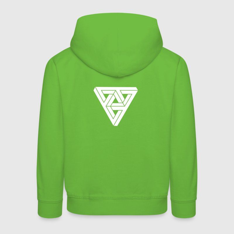 Optical illusion Triangle Minimal Shape - Kinder Premium Hoodie