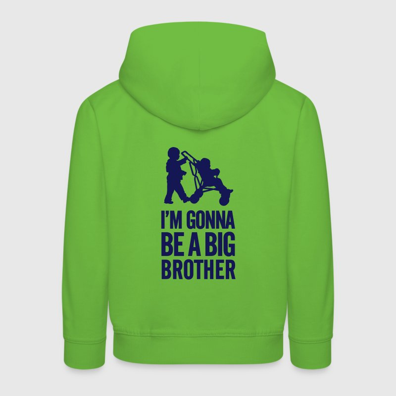 I'm gonna be a big brother baby car - Kinder Premium Hoodie