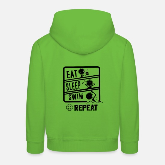 Gift Idea Hoodies & Sweatshirts - Swimmer Shirt · Performance Swimmer · Gift - Kids' Premium Hoodie light green