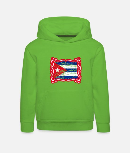 CUC Hoodies & Sweatshirts - Cuba flag - Kids' Premium Hoodie light green