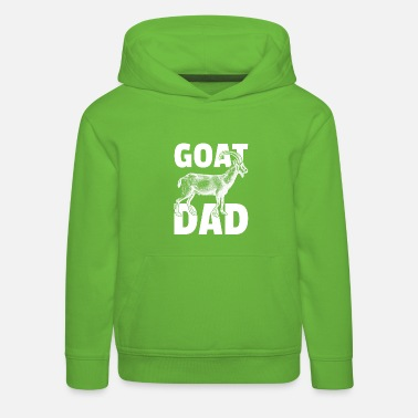 Grass Great Goat Design Quote Awesome Goat Dad - Kinder Premium Hoodie