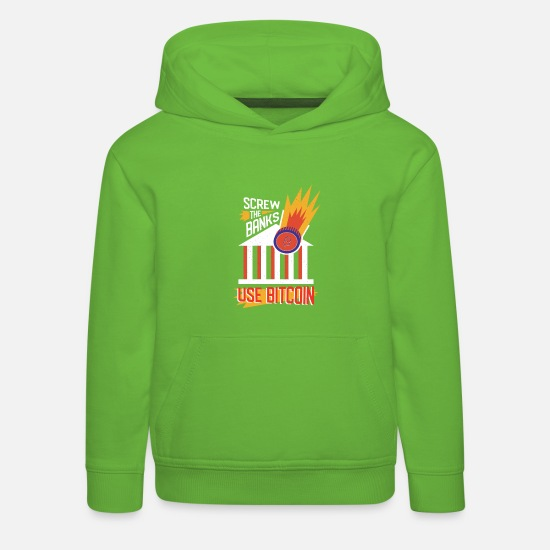 Bank Hoodies & Sweatshirts - Bitcoin is the alternative - Kids' Premium Hoodie light green