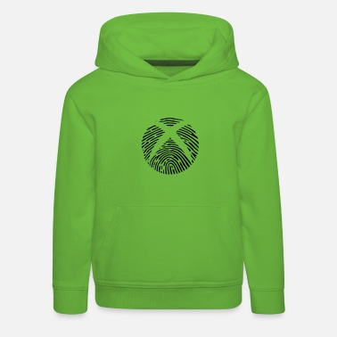 Box Fingerprint DNA DNA Gaming X Box logo gambler - Kids' Premium Hoodie