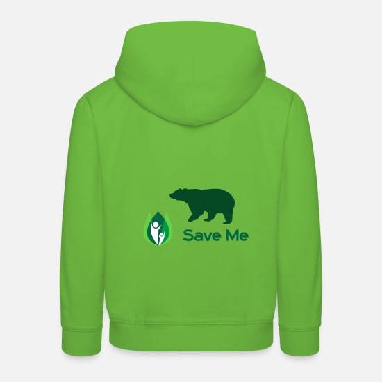 Planet Pullover & Hoodies - save the planet - Kinder Premium Hoodie Hellgrün