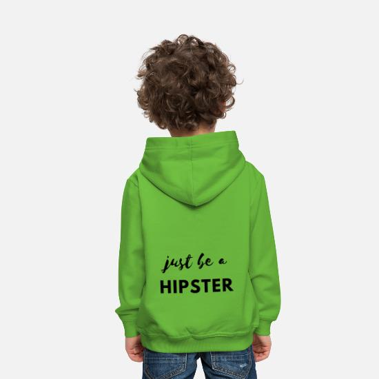 Bestsellers Q4 2018 Hoodies & Sweatshirts - Be a hipster! - Kids' Premium Hoodie light green