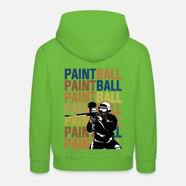 Paintball PAINTBALL PAINTBALL PAINTBALL - Kinder Premium Hoodie