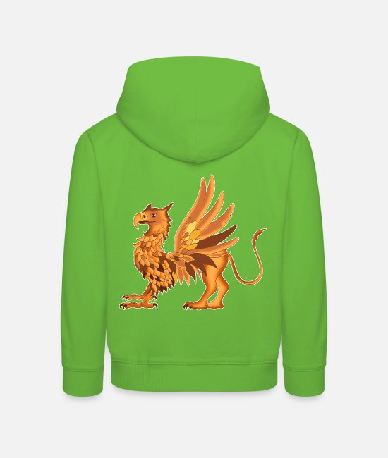 Hanse Hoodies & Sweatshirts - The griffin design - Kids' Premium Hoodie light green