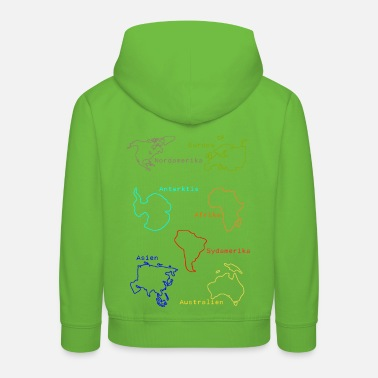 Continent Continents - Kids' Premium Hoodie