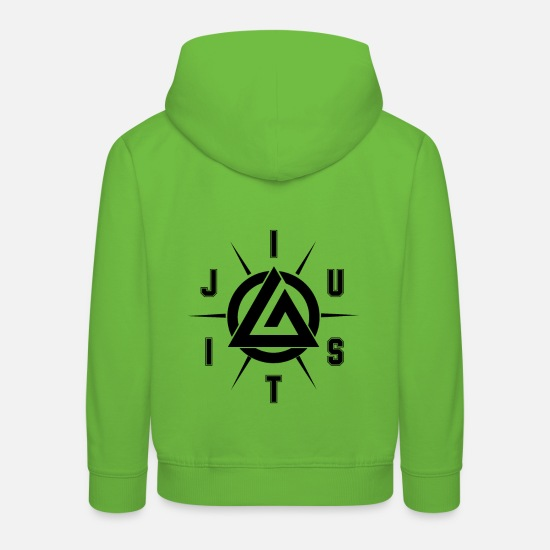 Jiujitsu Hoodies & Sweatshirts - Jiu Jitsu - Kids' Premium Hoodie light green