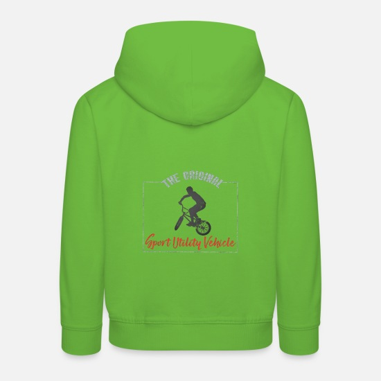 Cyclist Hoodies & Sweatshirts - SUV Bike Cyclist Gift - Kids' Premium Hoodie light green