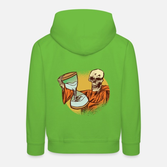 Influenza Hoodies & Sweatshirts - The dead with hourglass - Kids' Premium Hoodie light green