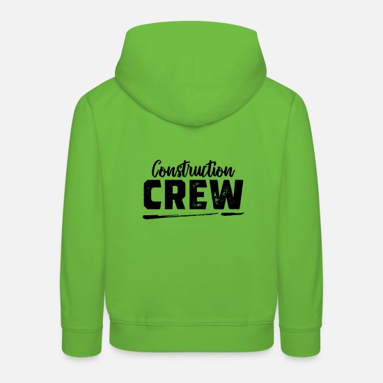 Construction Hoodies & Sweatshirts - Construction worker Construction worker Construction worker Construction worker - Kids' Premium Hoodie light green