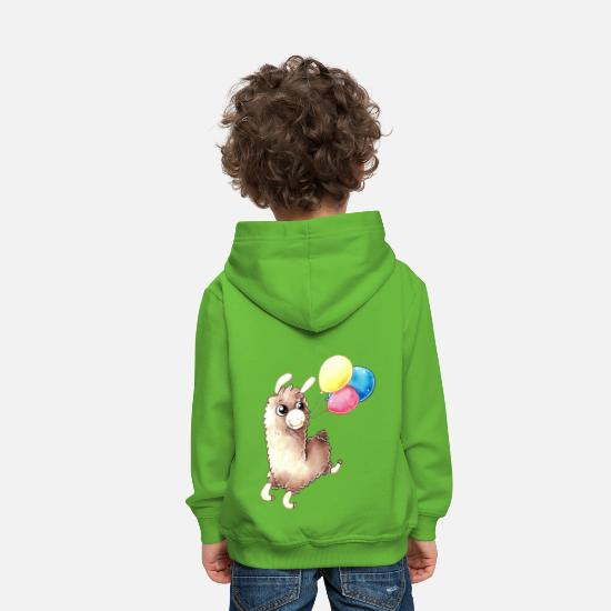 Kids Hoodies & Sweatshirts - Birthday Alpaca - Kids' Premium Hoodie light green