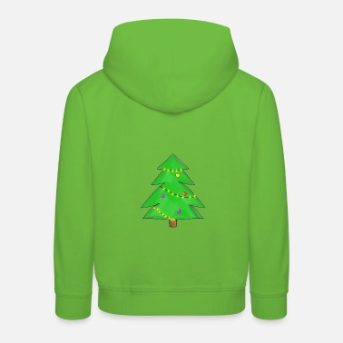 Conception d'arbre de Noël dessiné Noël - Sweat à capuche premium Enfant