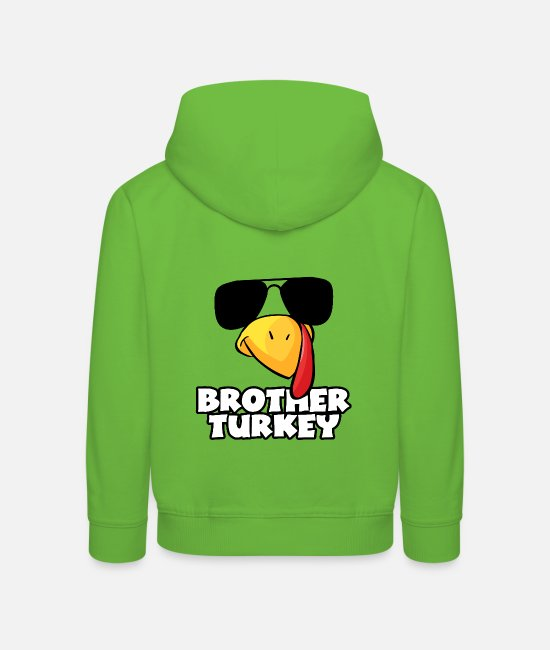 Party Hoodies & Sweatshirts - Brother Turkey Thanksgiving Gift Idea Cool Bro - Kids' Premium Hoodie light green