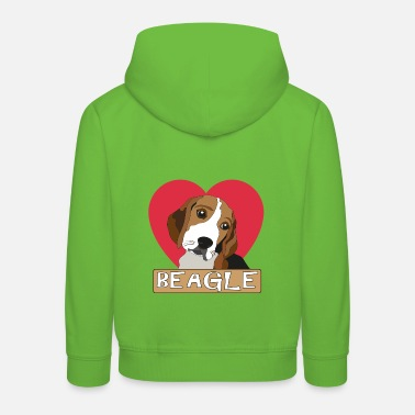 Beagle with a heart - Kids' Premium Hoodie