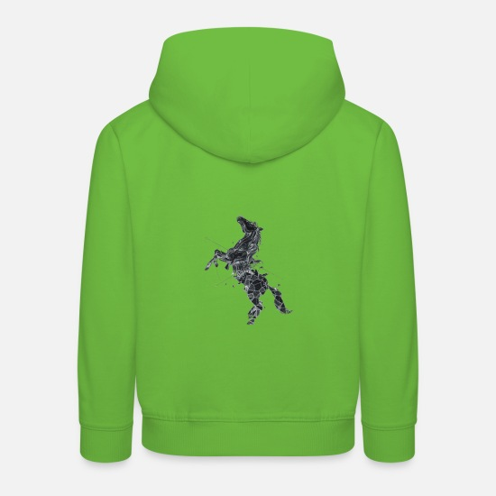 Foal Hoodies & Sweatshirts - Geo Horse - Kids' Premium Hoodie light green