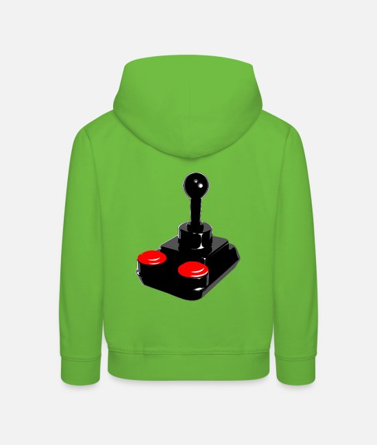 C64 Hoodies & Sweatshirts - Kempston Joystick - Kids' Premium Hoodie light green