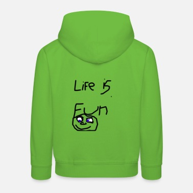 Fun Life Is Fun Merch - Premium bluza z kapturem dziecięca