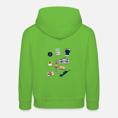 Objects from the 80s - Retro Design - Kids' Premium Hoodie