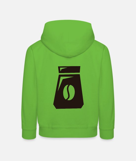 Coffee Bean Hoodies & Sweatshirts - Coffee icon - Kids' Premium Hoodie light green