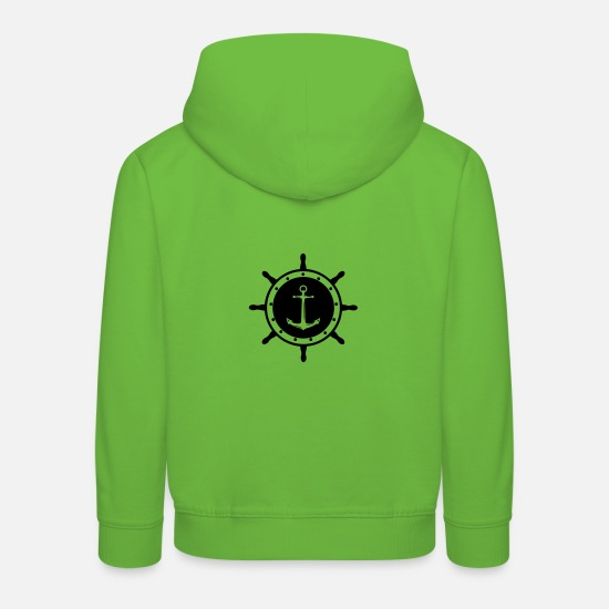 Pirate Hoodies & Sweatshirts - helm anchor 1 - Kids' Premium Hoodie light green