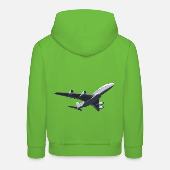 Avion Sweat-shirts - Avion avion à réaction - Sweat à capuche premium Enfant vert clair