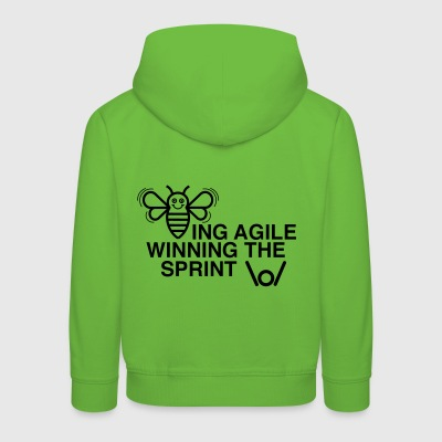 BEING AGILE WINNING THE SPRINT - Kids' Premium Hoodie