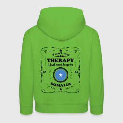 DON T NEED THERAPIE GO SOMALIA - Kinder Premium Hoodie