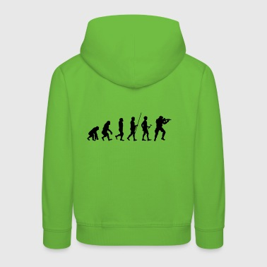 Evolution to the Soldier T-Shirt Gift - Kids' Premium Hoodie