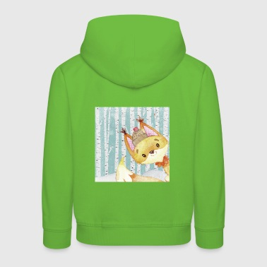 Forest friends in the winter forest - The little fox - Kids' Premium Hoodie