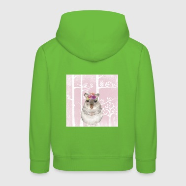 Friends in the pink fairytale forest - The sweet hamster - Kids' Premium Hoodie